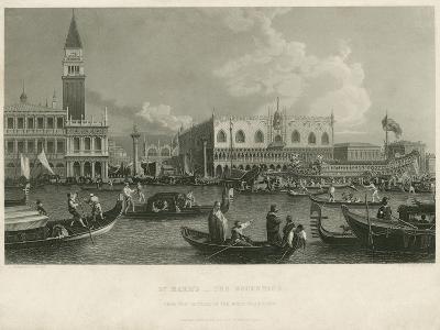 St. Mark's - the Bucentaur-A. Canaletti-Giclee Print