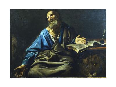St Mark the Evangelist, C1611-1632-Valentin de Boulogne-Giclee Print