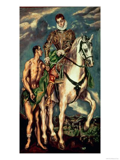 St. Martin and the Beggar-El Greco-Giclee Print