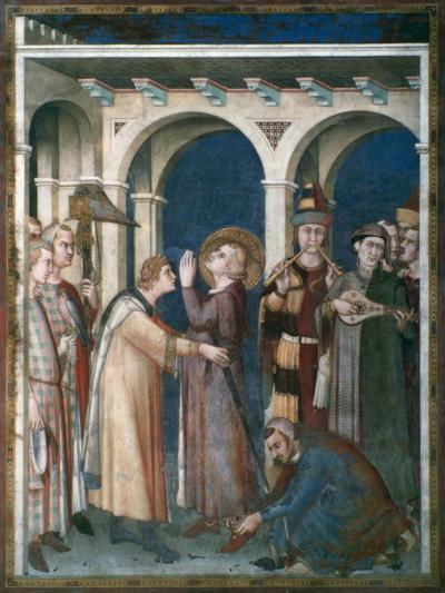 St Martin Is Knighted, 1312-1317-Simone Martini-Giclee Print