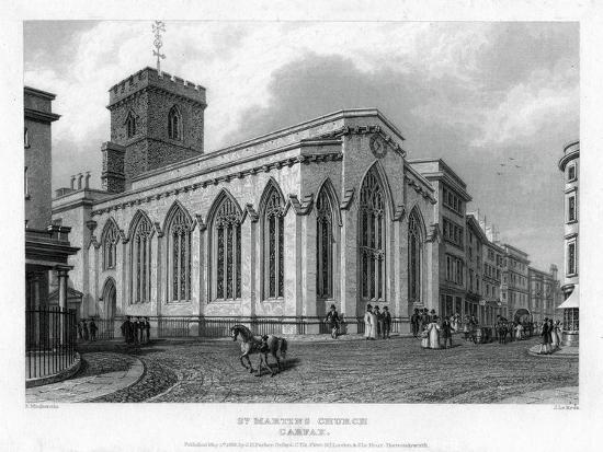 St Martin's Church, Carfax, Oxford, 1835-John Le Keux-Giclee Print