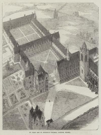 St Mary and St Nicholas College, Lancing, Sussex--Giclee Print