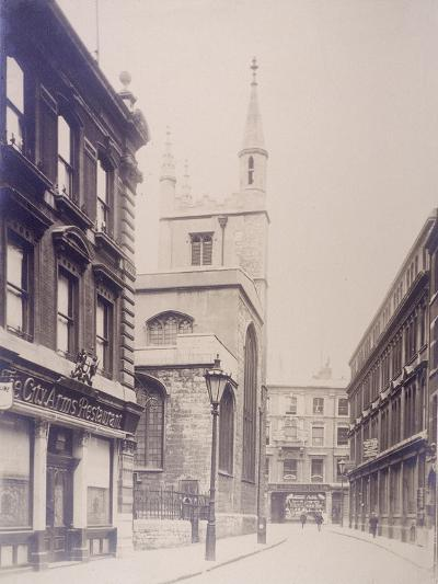 St Mary Axe and St Andrew Undershaft, London, 1911--Photographic Print
