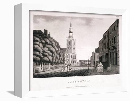 St Mary, Islington, London, 1792-William Ellis-Framed Stretched Canvas Print