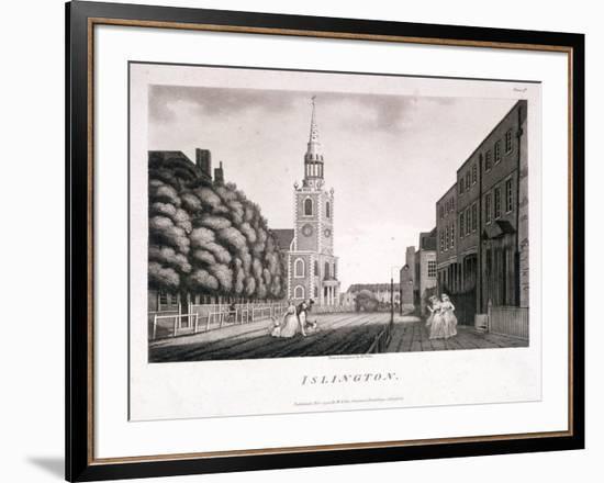 St Mary, Islington, London, 1792-William Ellis-Framed Giclee Print