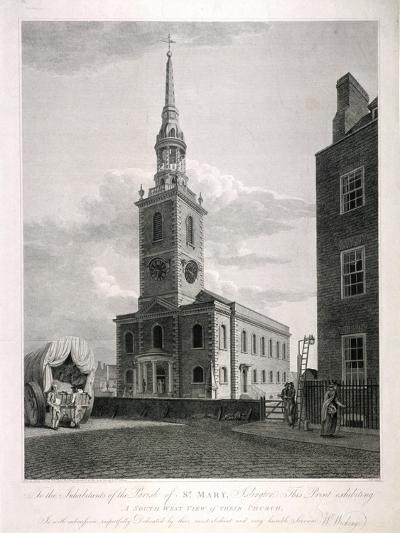 St Mary, Islington, London, 1793-John Roffe-Giclee Print