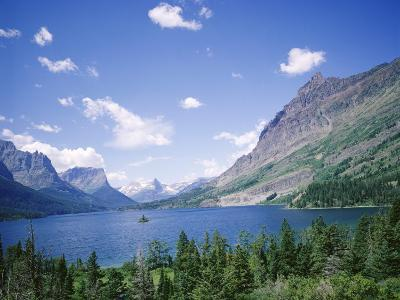 St. Mary Lake and Wild Goose Island, Glacier National Park, Rocky Mountains, USA-Geoff Renner-Photographic Print