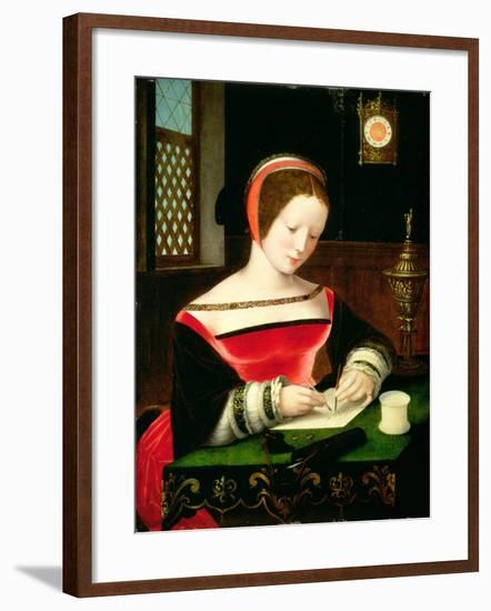 St. Mary Magdalene Writing-Master of the Female Half Lengths-Framed Giclee Print