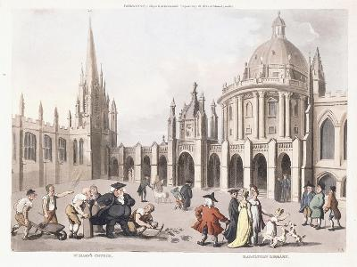 St. Mary's Church and Radclivian Library, 1809-1811-Thomas Rowlandson-Giclee Print