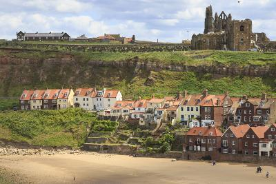 St. Mary's Church and Whitby Abbey Above Tate Hill Beach-Eleanor Scriven-Photographic Print