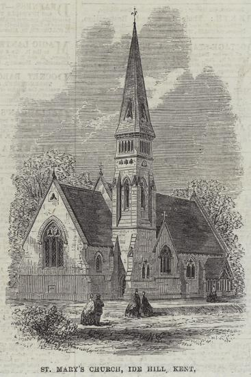 St Mary's Church, Ide Hill, Kent--Giclee Print