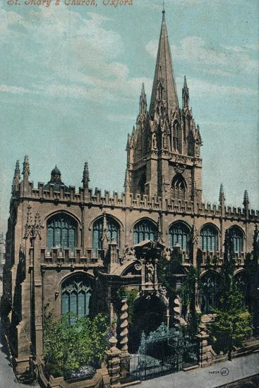 St Mary's Church, Oxford c1905-Unknown-Photographic Print