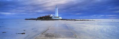 St. Mary's Lighthouse and St. Mary's Island, Near Whitley Bay, Tyne and Wear, England, UK-Lee Frost-Photographic Print