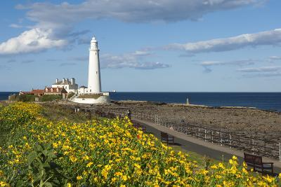 St. Mary's Lighthouse, Whitley Bay, Northumbria, England, United Kingdom, Europe-James Emmerson-Photographic Print