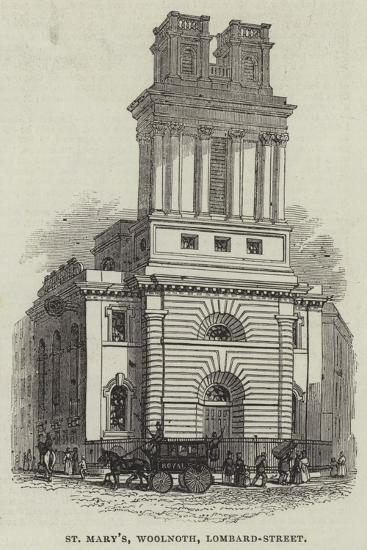 St Mary'S, Woolnoth, Lombard-Street--Giclee Print