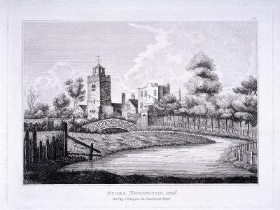 St Mary, Stoke Newington, London, C1810--Giclee Print