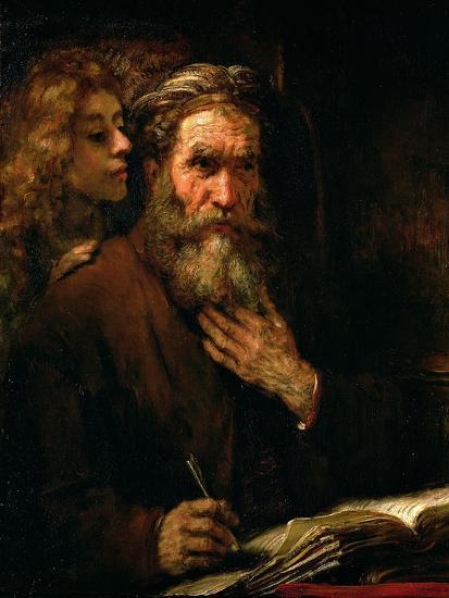 St. Matthew and the Angel, 1655-60-Rembrandt van Rijn-Giclee Print