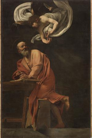 St. Matthew and the Angel-Caravaggio-Giclee Print