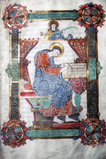 St. Matthew writing his Gospel, Anglo-Saxon work, c1062-65-Unknown-Giclee Print
