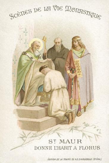 St Maurus Gives Florus His Habit--Giclee Print