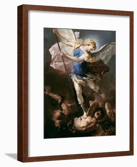 St. Michael, about 1663-Luca Giordano-Framed Giclee Print