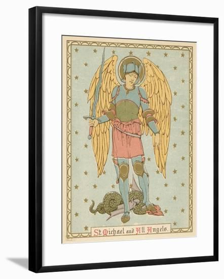 St Michael and All Angels-English School-Framed Giclee Print