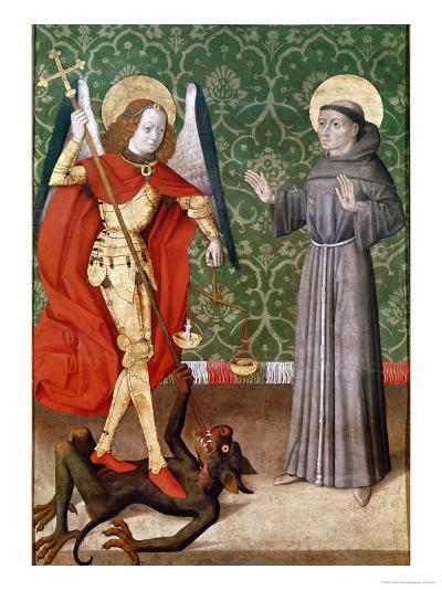 St. Michael and St. Francis of Assisi, c.1480--Giclee Print