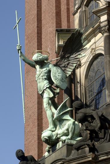 St Michael Defeating Devil--Photographic Print
