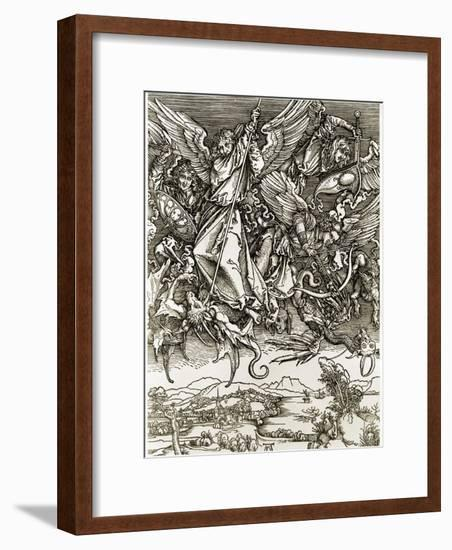 St. Michael Fighting the Dragon-Albrecht Dürer-Framed Giclee Print