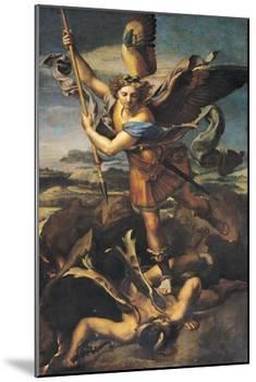 St. Michael Overwhelming the Demon, 1518-Raphael-Mounted Premium Giclee Print