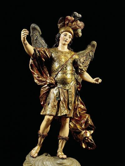 St. Michael, Painted Wooden Statue, Portuguese Art--Giclee Print