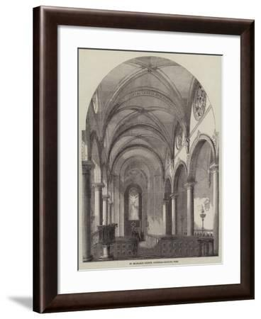 St Michael's Church, Cornhill, Looking West--Framed Giclee Print