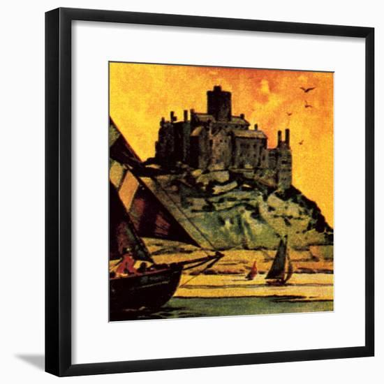 St Michael's Mount, Cornwall-English School-Framed Giclee Print