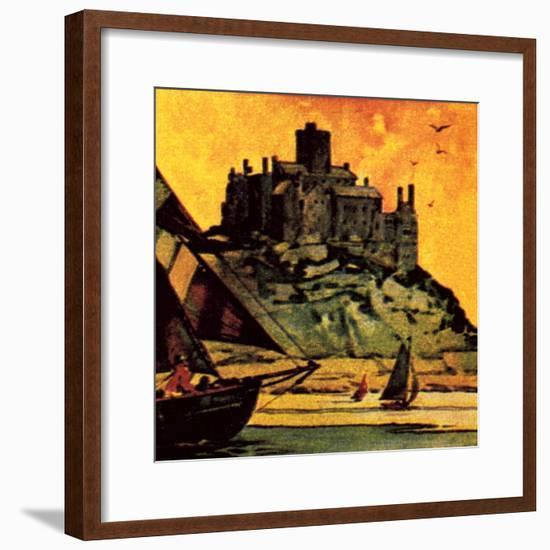 St Michael's Mount, Cornwall-English School-Framed Giclee Print