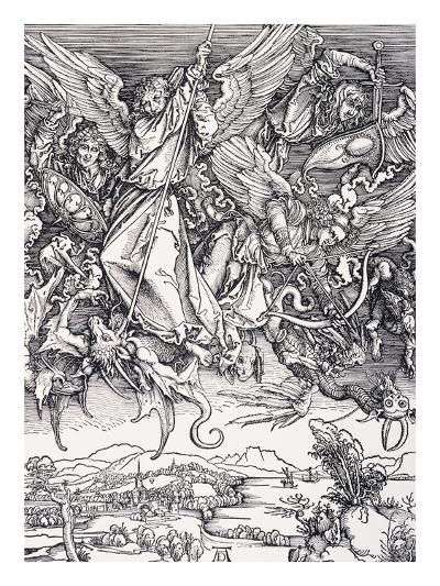 St. Michael Slaying the Dragon-Albrecht D?rer-Giclee Print