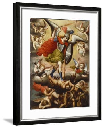 St Michael the Archangel. Cuzco School, 17th Cent, c.1675-Diego Quispe Tito-Framed Giclee Print