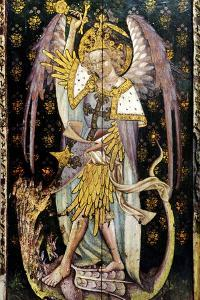 St Michael the Archangel, Detail of the Rood Screen, St Helen's Church, Ranworth, Norfolk, Uk