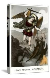 St. Michael the Archangel Fighting Dragon