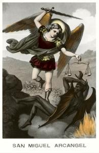 St. Michael the Archangel Fighting Dragon