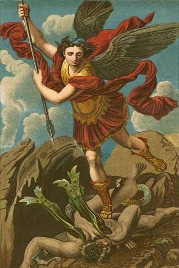 St Michael Vanquishing Satan-Raphael-Giclee Print