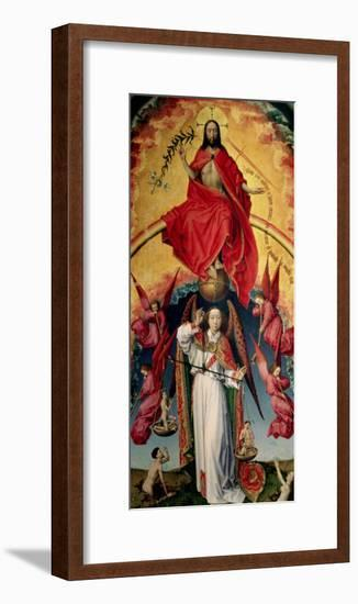 St. Michael Weighing the Souls, from the Last Judgement, C.1445-50-Rogier van der Weyden-Framed Giclee Print