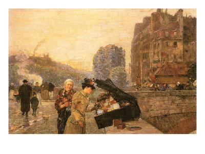 St Michel-Childe Hassam-Art Print