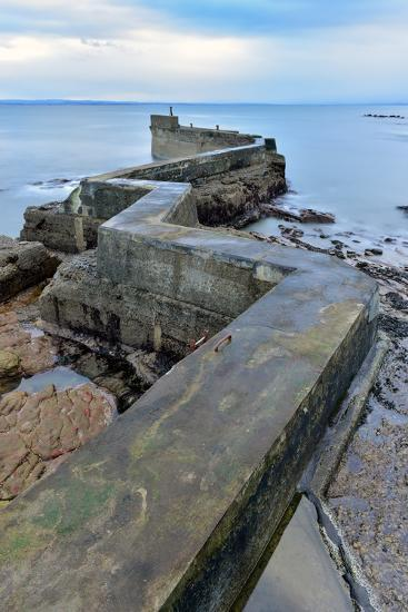 St. Monan's Pier, Fife, Scotland, United Kingdom, Europe-Karen Deakin-Photographic Print