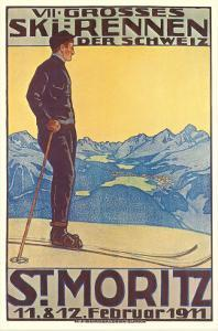 St. Moritz Ski Run, Art Deco
