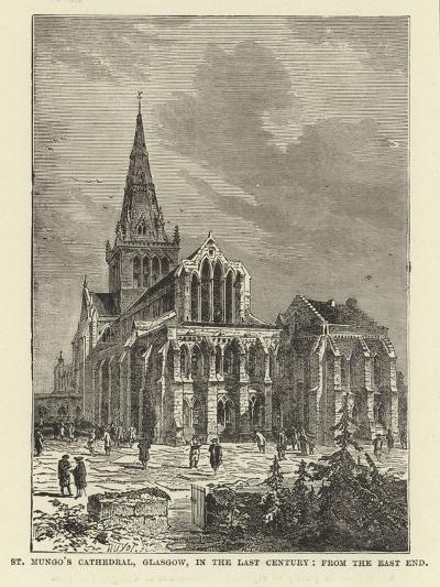 St Mungo's Cathedral, Glasgow, in the Last Century, from the East End--Giclee Print