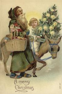 St Nicholas and Jesus Christ, with Christmas Tree and Presents