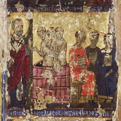 St Nicholas Baptising the First Christians with the Common Rite--Giclee Print