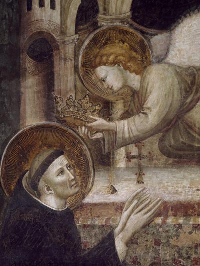 St Nicholas Being Crowned by Angel--Giclee Print