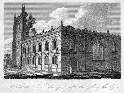 St Nicholas Church, Liverpool, Merseyside, 1812-James Sargant Storer-Giclee Print