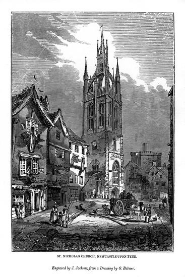 St Nicholas Church, Newcastle-Upon-Tyne, 1843-J Jackson-Giclee Print